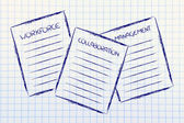 Business documents: workforce, collaboration, management — Stock Photo