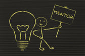 Man with ideas and knowledge: mentor — Foto de Stock
