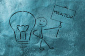 Man with ideas and knowledge: mentor — Foto Stock