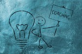 Man with ideas and knowledge: coach — Foto Stock