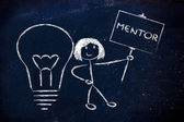 Girl with ideas and knowledge: mentor — Foto Stock