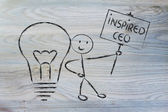 Man with ideas and knowledge: inspired ceo — Stock Photo