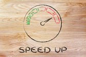Speedometer and fast success: speed up — Foto Stock