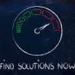 Speedometer and fast success: find solutions now — Stock Photo