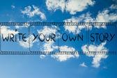 Filmový pás, napsat svůj vlastní příběh — Stock fotografie
