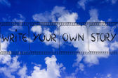 Filmstrip, write your own story — Stock Photo