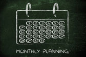 Calendar and concept of achievements — 图库照片
