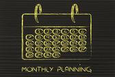 Calendar and concept of achievement — Stock Photo