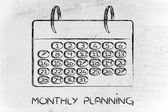 Calendar and concept of achievement — 图库照片
