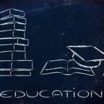 Books and graduation cap — Stock Photo #45303733
