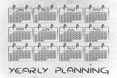 Calendar and concept of achievement — Foto de Stock