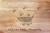 Collection talents — Stock Photo
