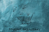 Talent scouting — Stock Photo