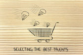 Selectiong the best talents — Stock Photo
