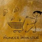 Pioneer investor — Stock Photo #45325921