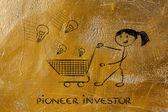 Pioneer investor — Stock Photo