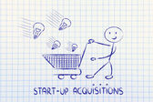Start-up acquisition — Stock Photo