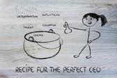 完璧な ceo のためのレシピ — ストック写真