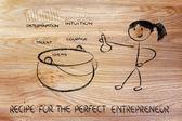 рецепт идеальный предприниматель — Стоковое фото