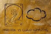存储选项: 硬驱或云存储 — 图库照片