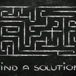 Metaphor maze design: find your way — Stock Photo