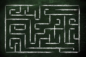 Metaphor maze design: find your way — Stock Photo