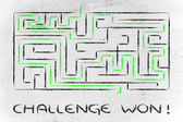 Metaphor maze design: challenge won! — Stock Photo