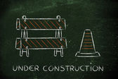 Under construction road sign — Stock Photo