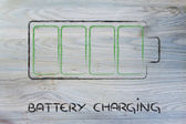 Phone or electronical device battery charging design — Stock Photo