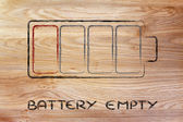 Design of an empty battery level — Stock Photo