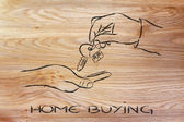 Buying or moving house — Stock Photo