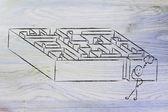 Metaphor maze design — Stock Photo