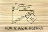 Privacidad y protección de información confidencial — Foto de Stock