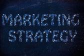 Stratégie de marketing écrit jacquard rougeoyante de roues dentées — Photo