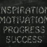 Inspiration, motivation, progress, success writing with glowing — Stock Photo #46491729