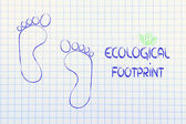 Ecological footprint, ecotourism and environmental awareness — Stock Photo