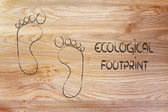 Ecological footprint, ecotourism and environmental awareness — Foto Stock