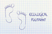 Ecological footprint, ecotourism and environmental awareness — Stockfoto