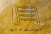 Set a budget — Stock Photo