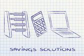 Savings solutions — Stock Photo