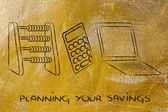 Pianificare i tuoi risparmi — Foto Stock