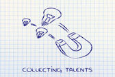 Collecting talents — Stock Photo