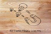 Attracting ideas — Stock Photo