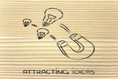 Attracting ideas — Stock Photo