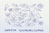 Data overload — Stock Photo