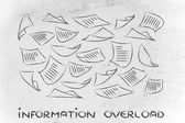 Information overload — Stock Photo