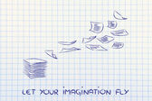 Let your imagination fly — Stock Photo