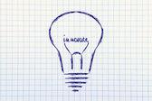 Glödlampa med glödtråden säger innovera — Stockfoto