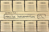 Documents and search bar, looking for precise information — Foto de Stock