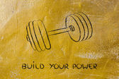 Build your strength and power, set of weights — Stock Photo